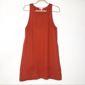 Leith (L) Burnt Orange Racerback Tent Mini Dress